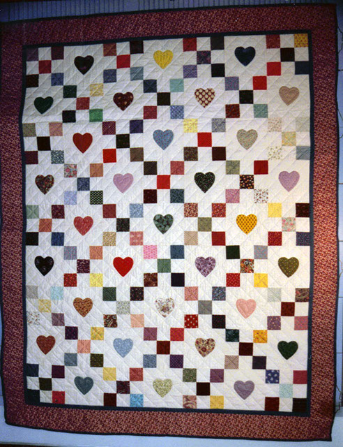 Hearts and Nine Patch : nine block quilt pattern - Adamdwight.com